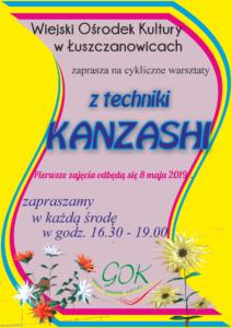 """Cykliczne warsztaty Łuszczanowice – """"Kanzashi"""""""