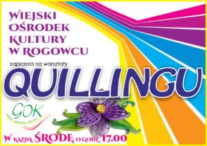 """Cykliczne warsztaty Rogowiec – """"Quilling"""""""