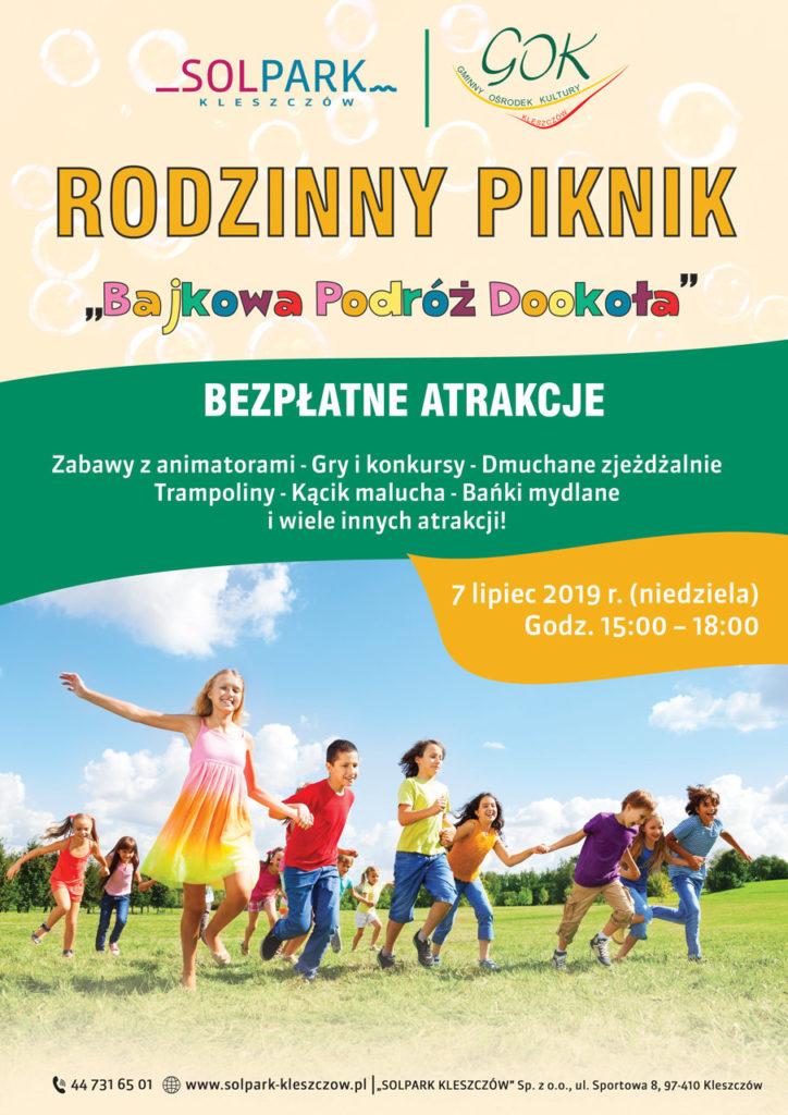"""Piknik – """"Bajkowa Podróż Dookoła"""" 07.07.2019 r."""