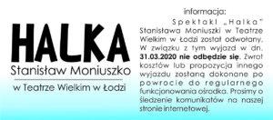 Informacja ws. wyjazdu do Łodzi.