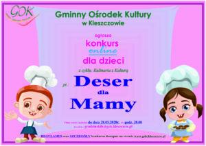 Deser dla Mamy – Konkurs online dla dzieci.