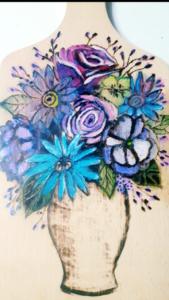 Rękodzieło artystyczne: Pirografia w kolorze.
