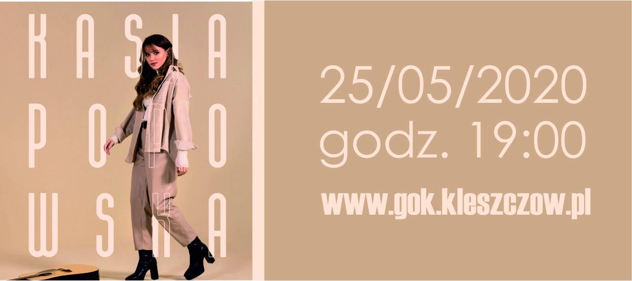 Kasia Popowska – Koncert na żywo, bez udziału publiczności (transmisja online) 25.05.2020 g. 19:00