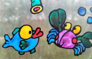 Malowanie na folii – farby witrażowe (warsztaty on-line)