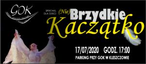 """Spektakl dla dzieci """"(Nie)Brzydkie Kaczątko"""" w GOK"""