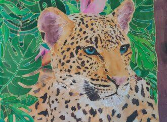 Malowanie na jedwabiu: Leopard – inst. Renata Pawlicka (warsztaty on-line)