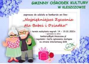 """Konkurs on-line """"Najpiękniejsze życzenia dla Babci i Dziadka"""""""