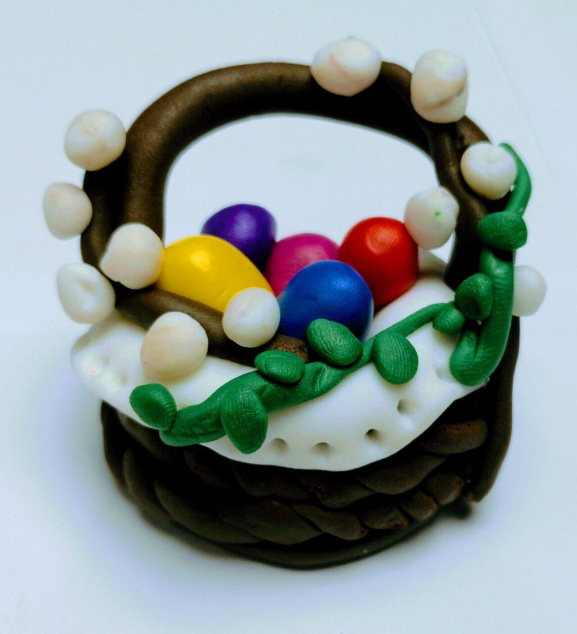 Modelinowy Koszyczek Wielkanocny