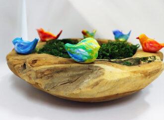 Wiosenne inspiracje: ptaszki z masy samoutwardzalnej