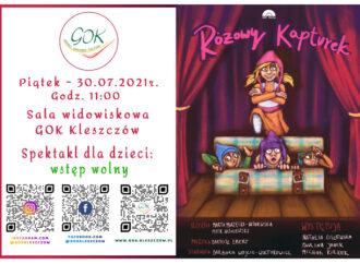 """Spektakl teatralny dla dzieci – """"Różowy Kapturek"""" – 30.07.2021r."""