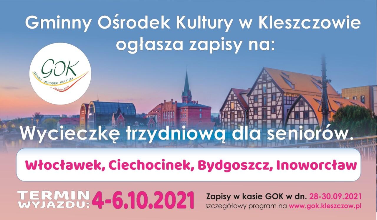 Wycieczka dla emerytów i rencistów Ciechocinek-Bydgoszcz-Inowrocław zapisy.