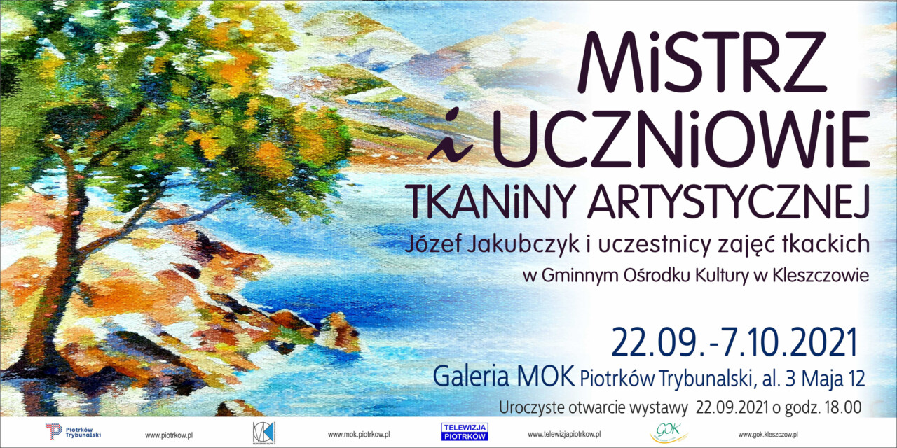 Wernisaż tkactwa artystycznego w Piotrkowie Trybunalskim.